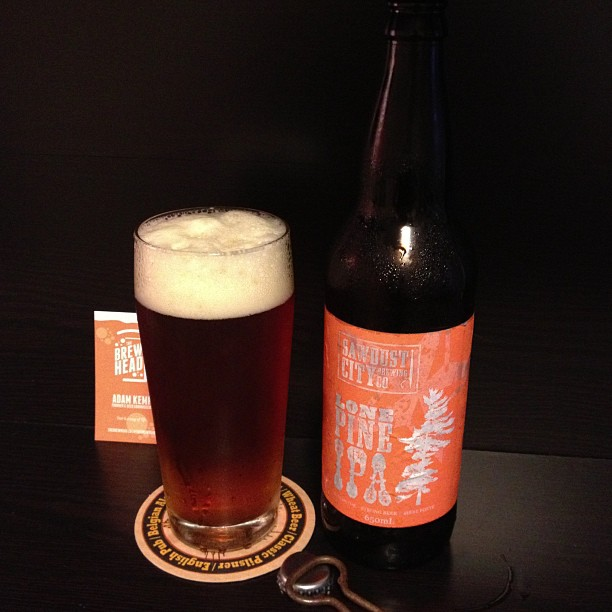 Lone Pine IPA by Sawdust City Brewing Co.